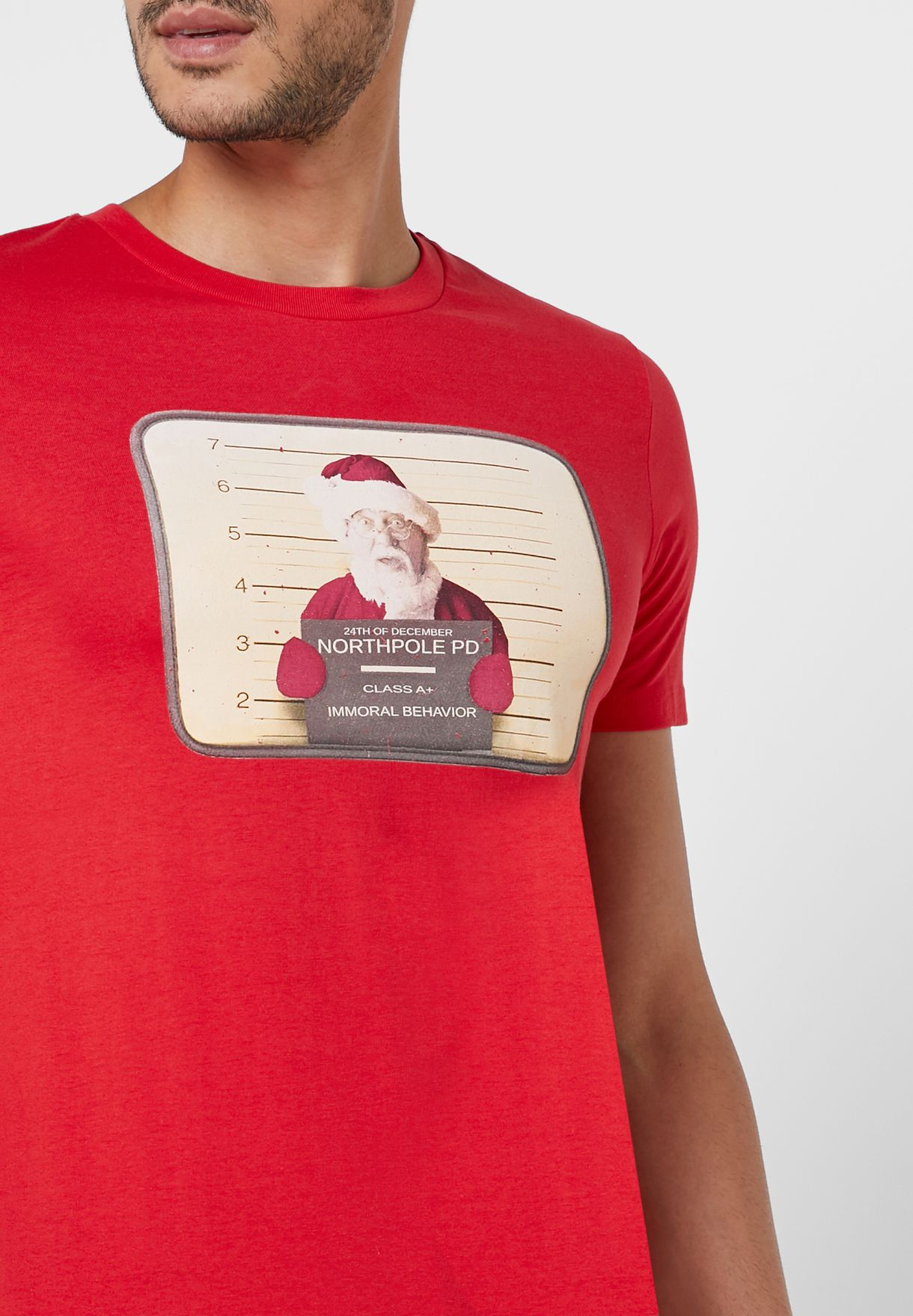 Claus Xmas Crew Neck T-Shirt