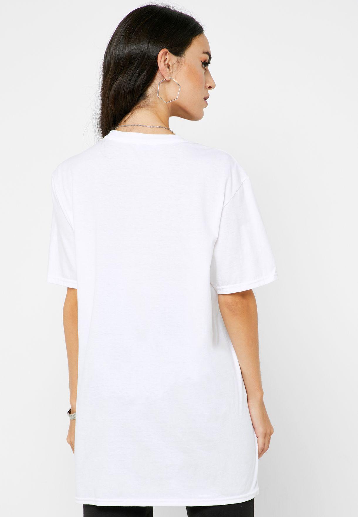 Printed Slogan T-Shirt