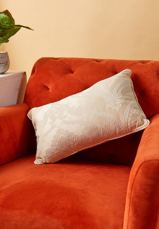 Rochester Filled Cushion In Pale Gold