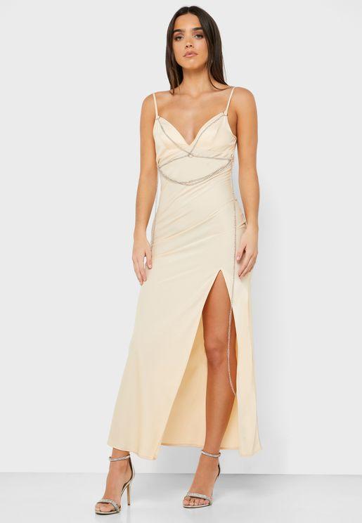 Chain Detail Cami Strap Dress