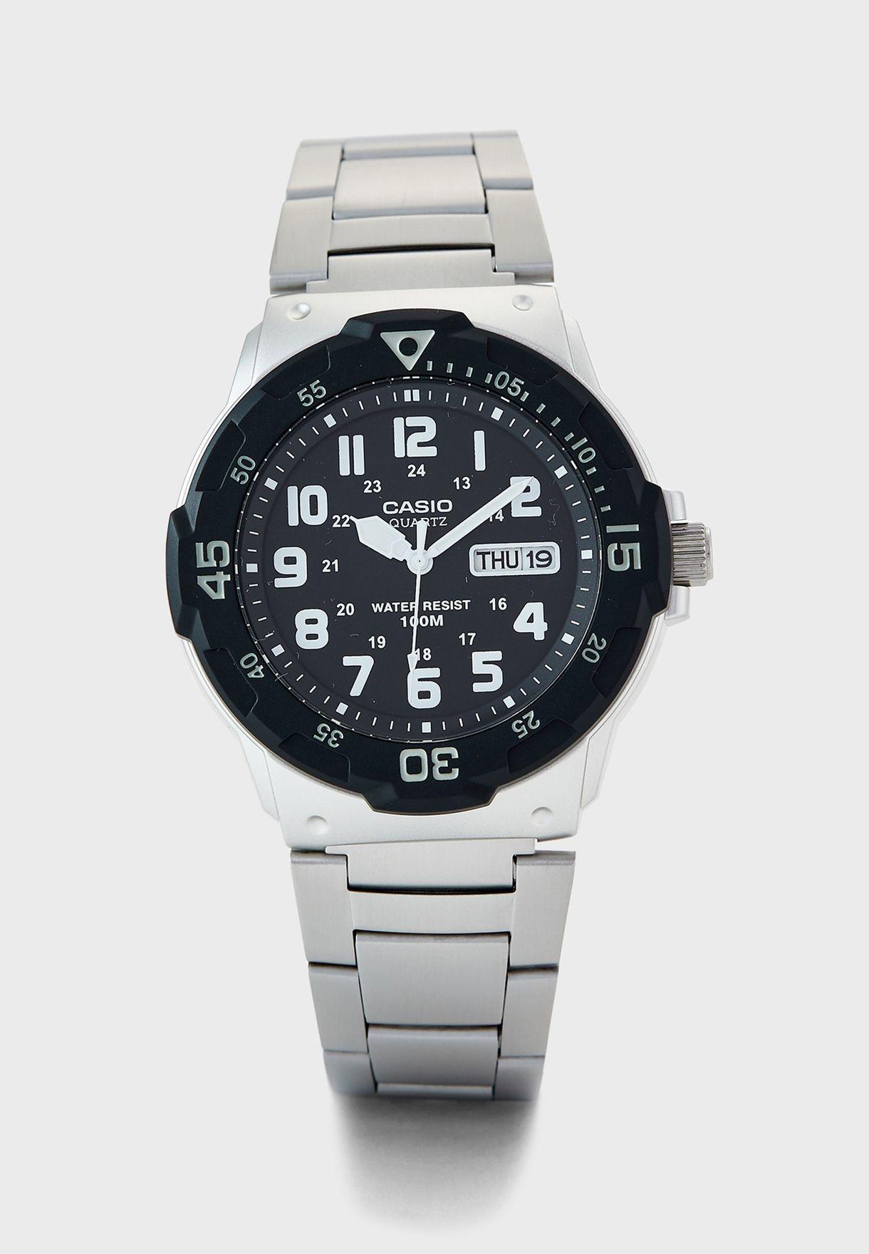 Rotary Bezel Analog Watch