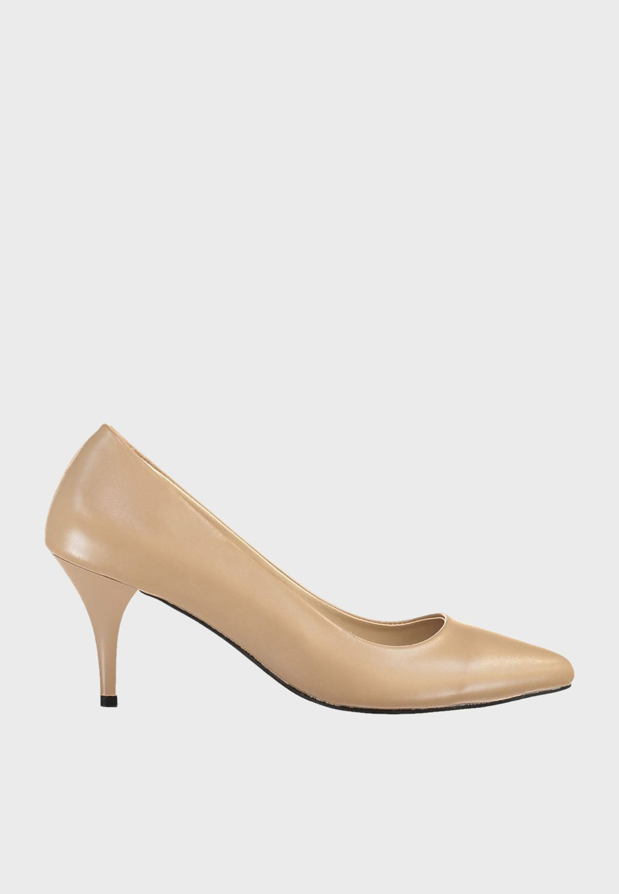 Mid Heel Casual Pump