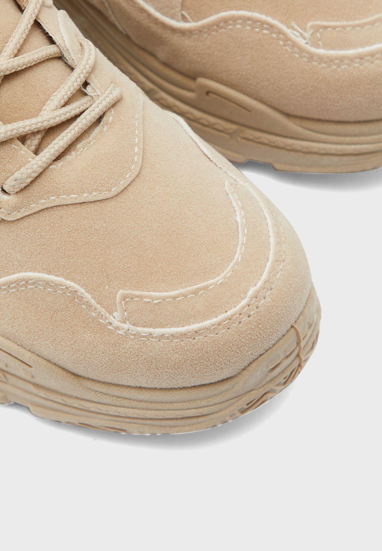 Block Color Low Top Sneaker