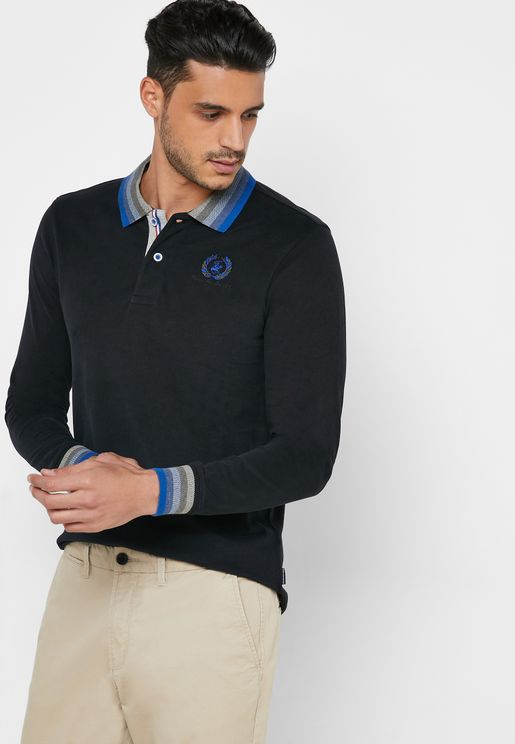 Contrast Collar Logo Polo