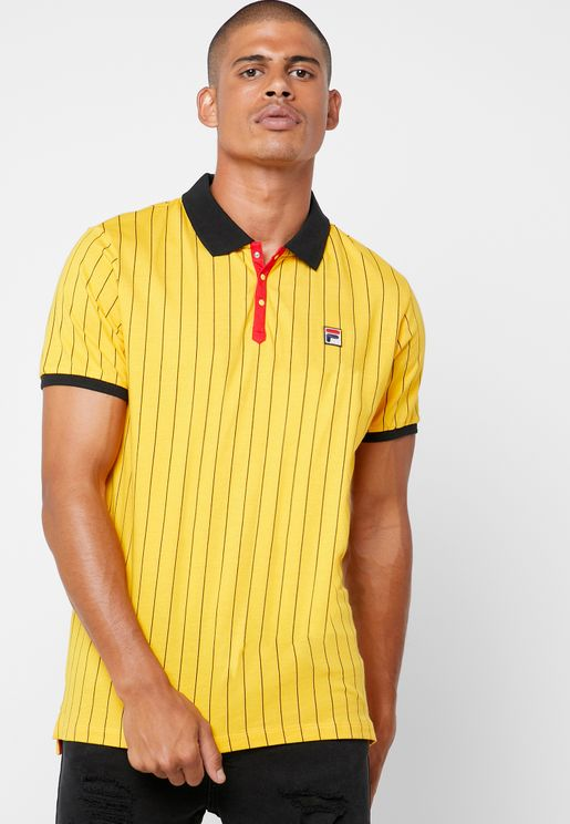 Borg Striped Polo