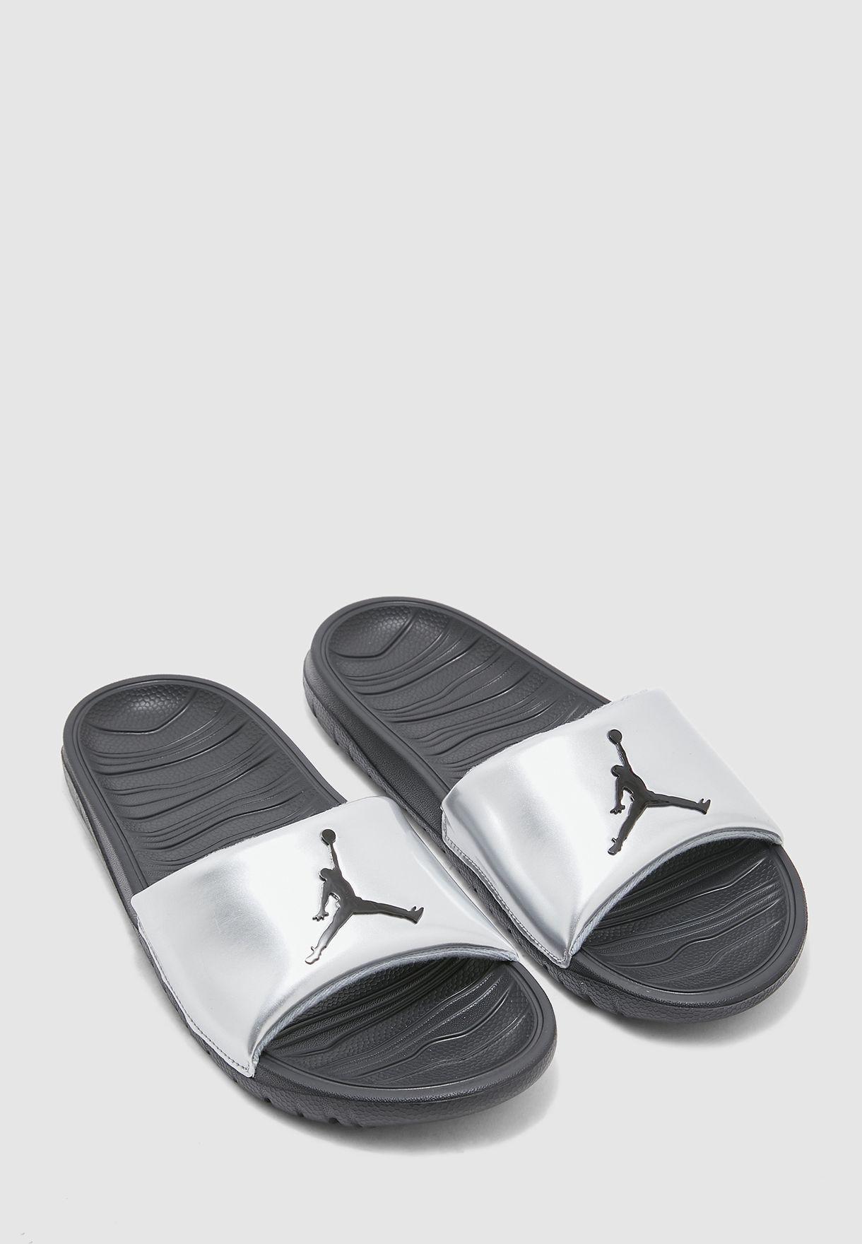 Buy Nike silver Jordan Break Slides for