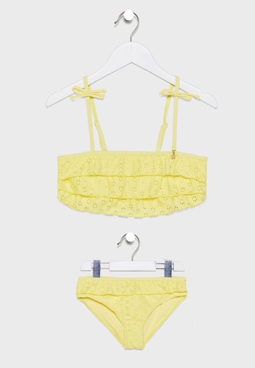 Teen Layered Ruffle Detail Bikini Set