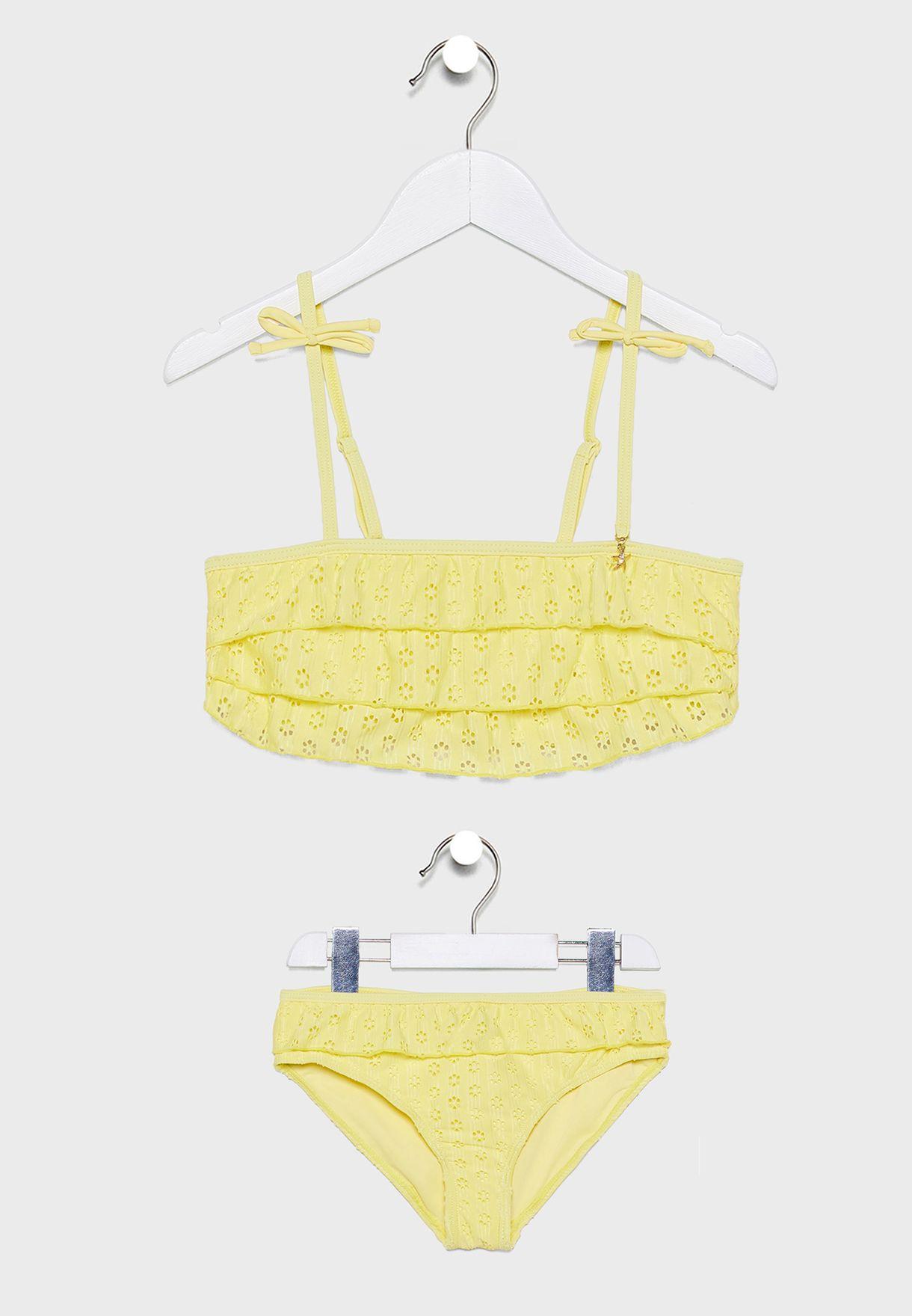 Teen Layered Ruffle Detail Bikini Set