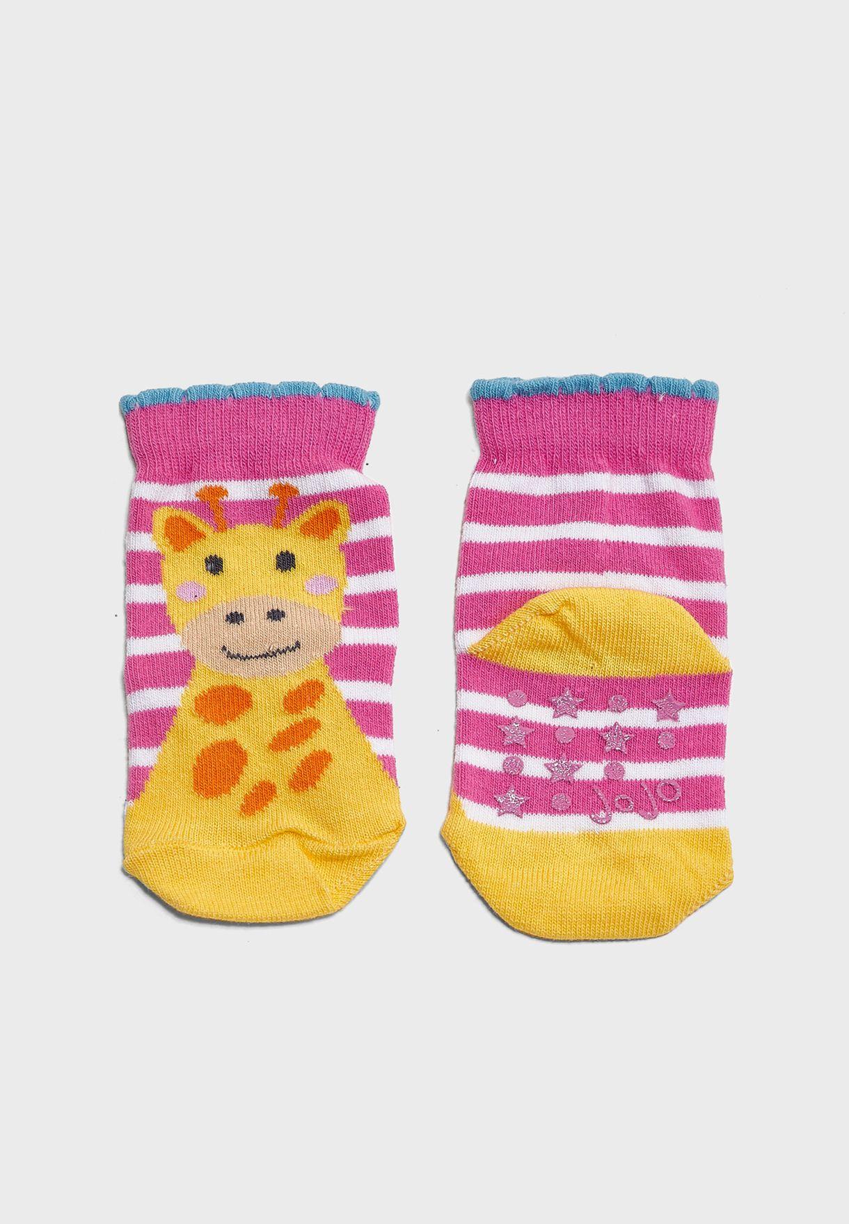 Infant 3 Pack Jungle Socks