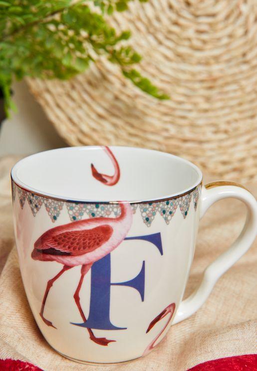 Alphabet Mug - Flamingo
