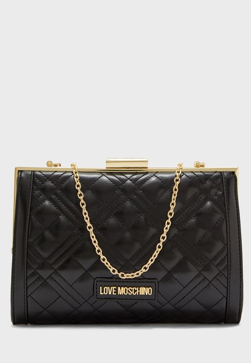 Quilted Lip Lock Crossbody