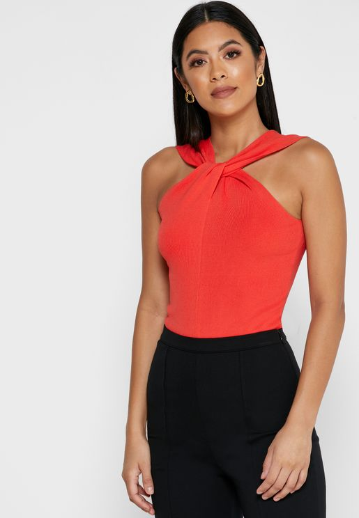Brooke Twist Neck Top