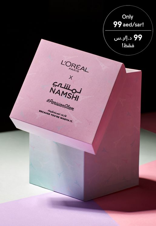 صندوق المكياج السري من لوريال x نمشي