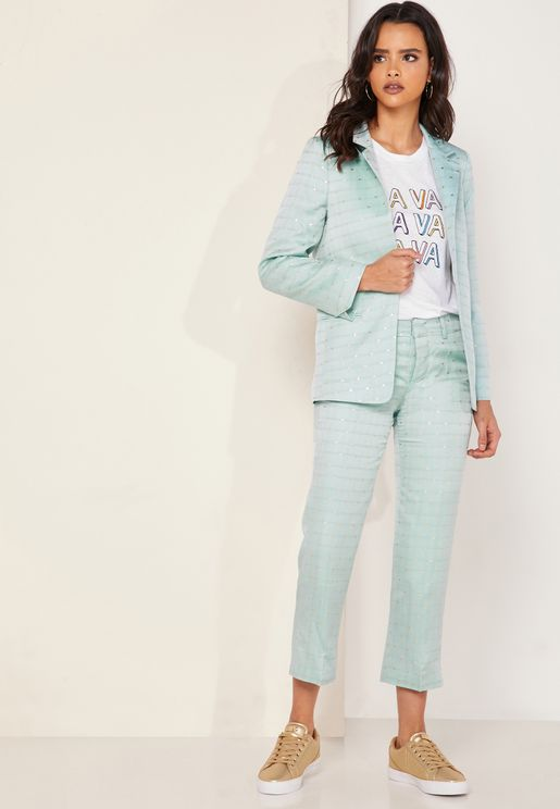 Posh Jacquard Pants
