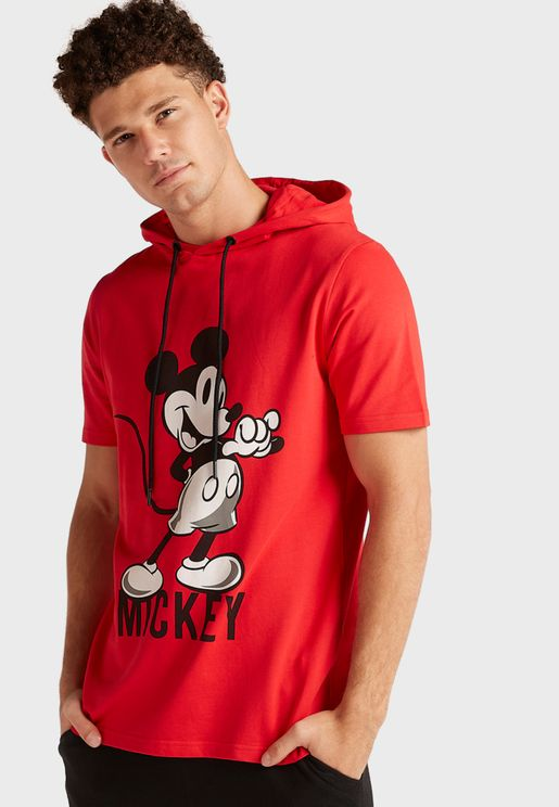 Mickey Mouse Hooded T-Shirt