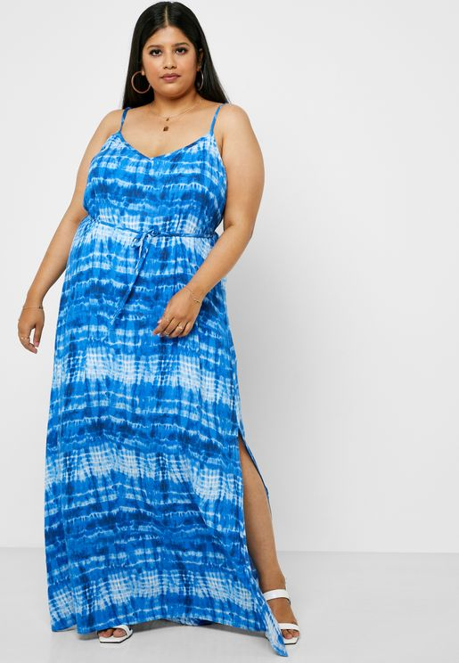Tie Dye Cami Strap Dress