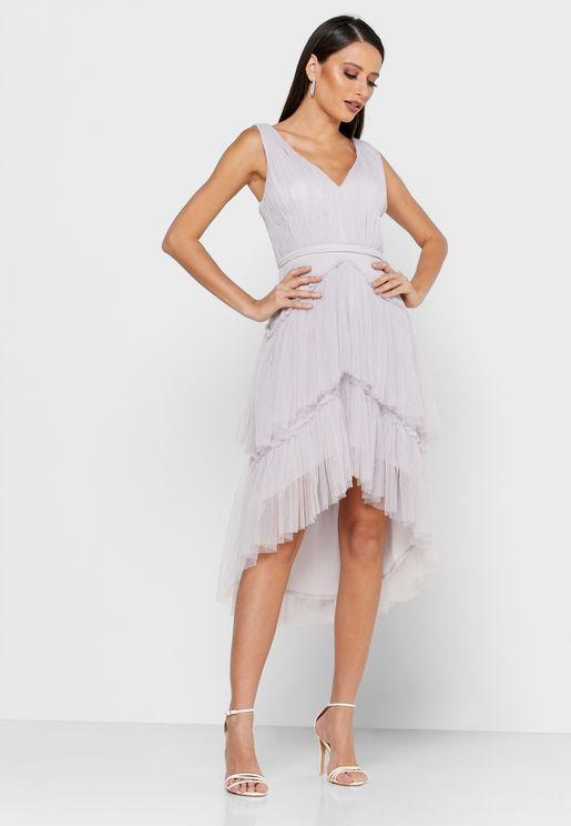 فستان شبك بطبقات