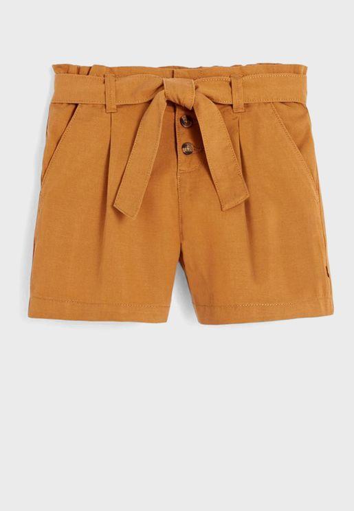 Youth Tie Waist Shorts