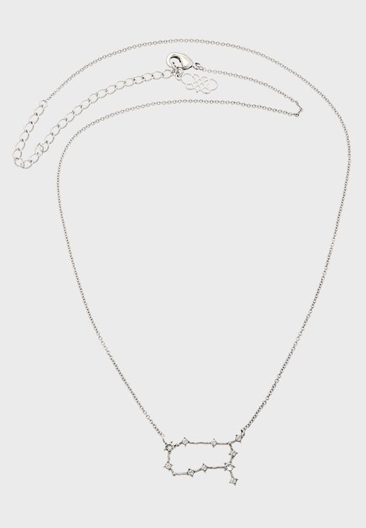 Gemini star sign - Crystal Necklace