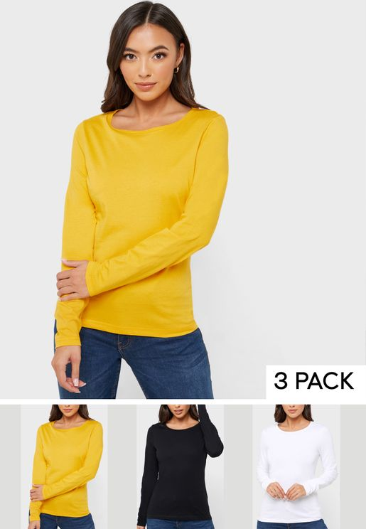 3 Pack Long Sleeve T-Shirt