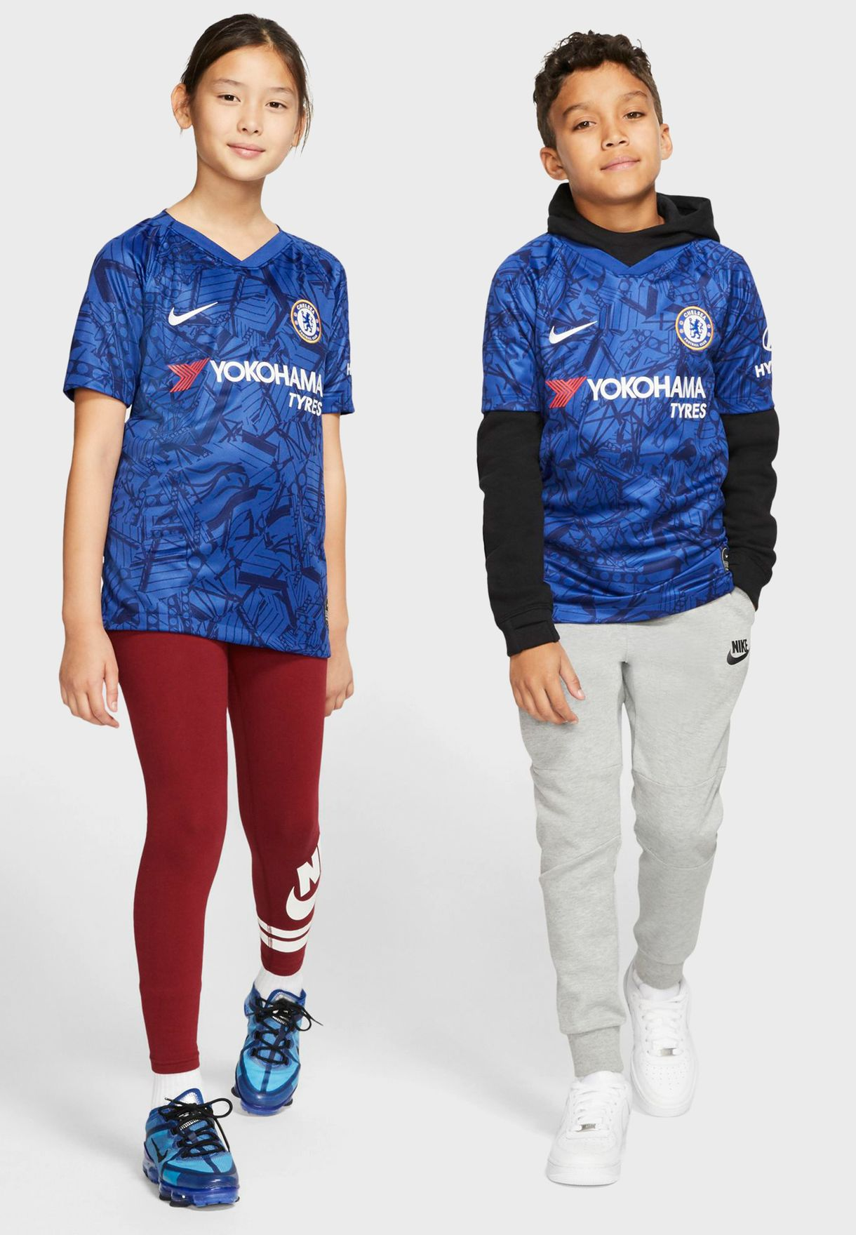 fe76123ee Shop Nike blue Youth Chelsea 19/20 Home Jersey AJ5798-495 for Kids ...