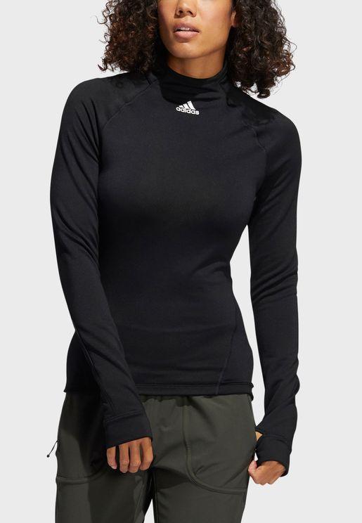 Cold Ready Mock Neck Sweatshirt