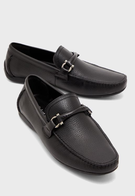 leather formal slip ons