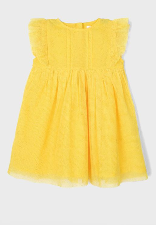 Infant Pleated Shimmer Dress