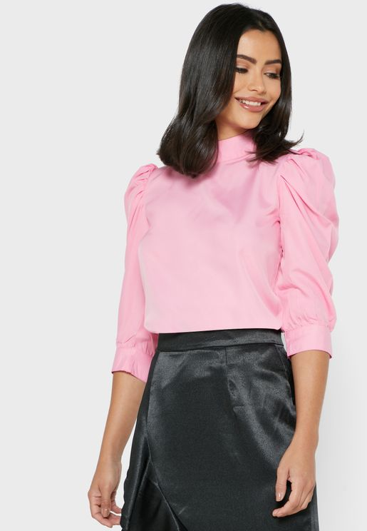 Puffed Sleeve Top