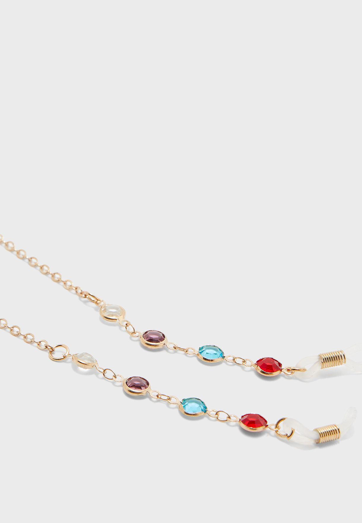 Rainbow Stones Sunglasses Chain