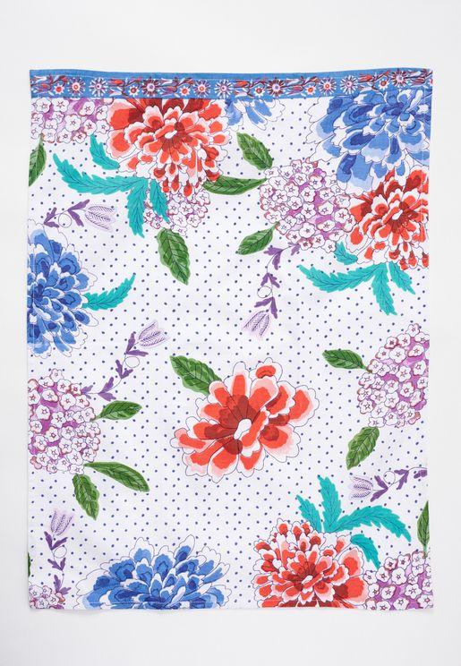 منشفة صحون بطباعة زهور