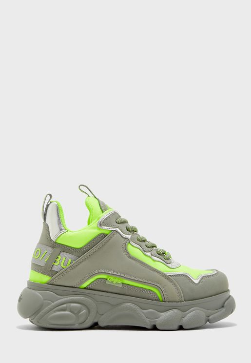 Neon Chai Low-Top Chunky Sneaker