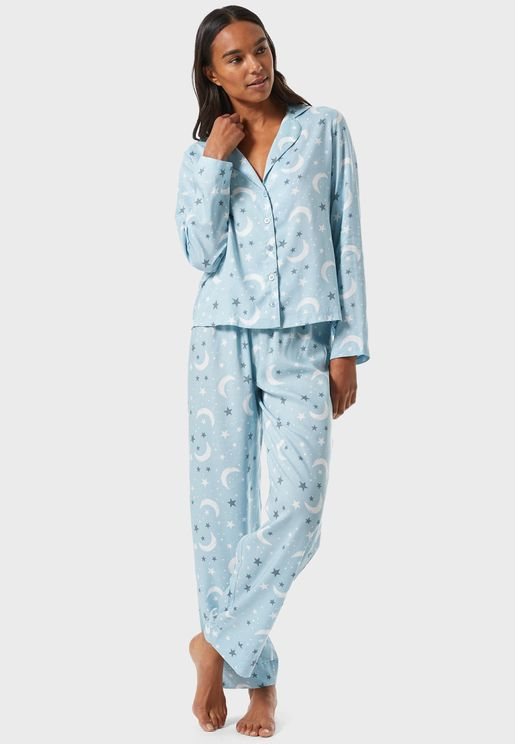 Printed Shirt & Pyjama Set