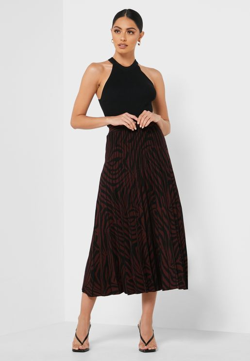 Viviynn Knitted Pleated Skirt