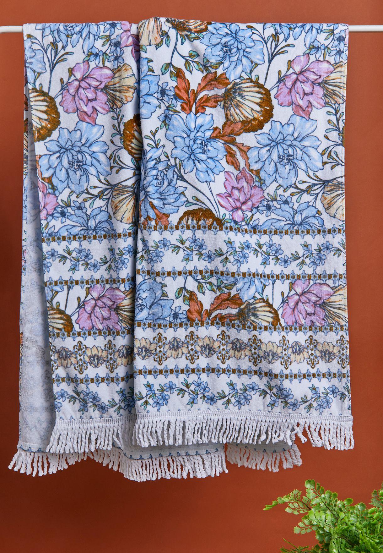 Floral Rectangle Beach Towel