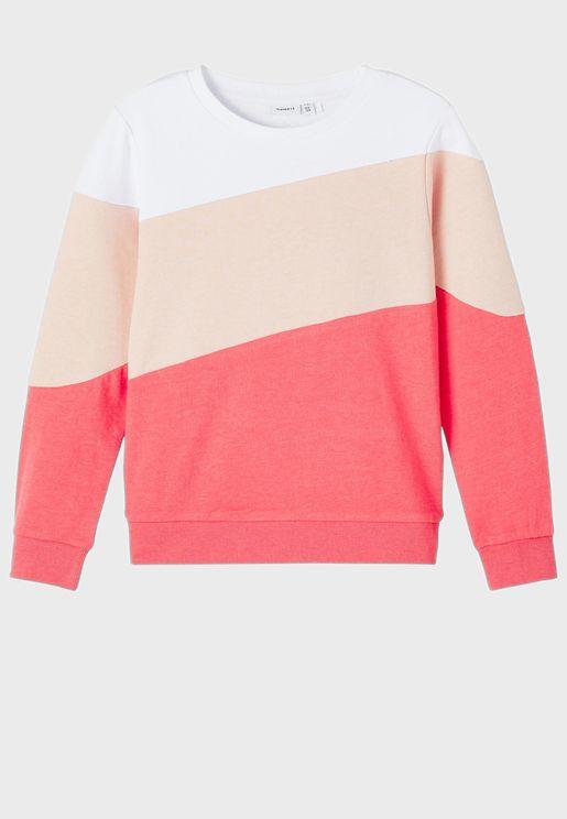 Kids Color Block Sweatshirt