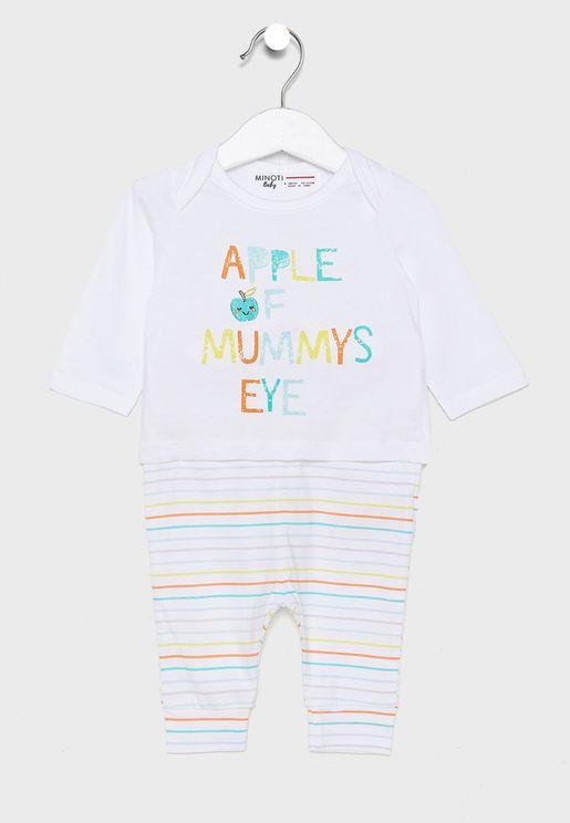 Infant Slogan T-Shirt + Leggings Set