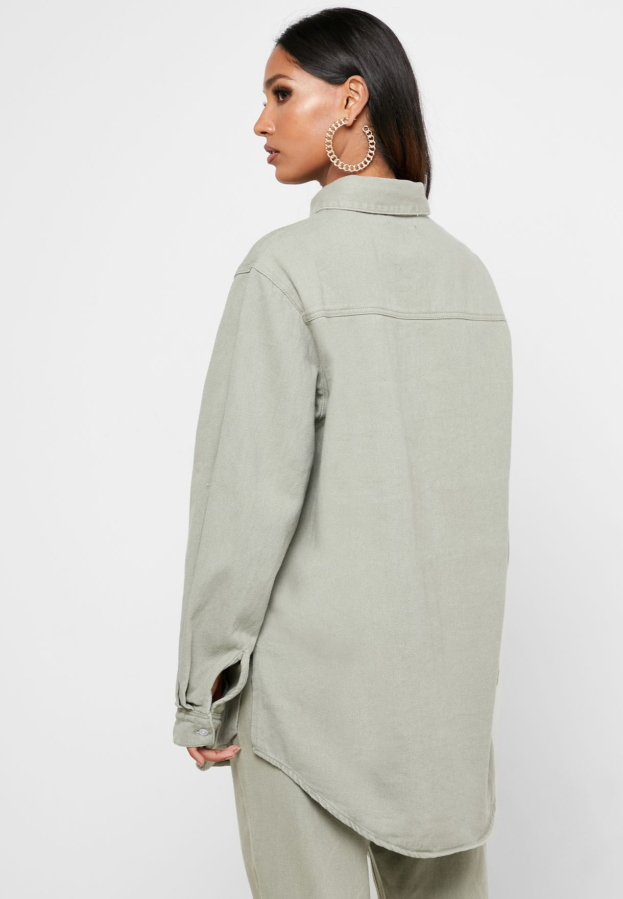 Oversized Denim Shirt-Co Ord