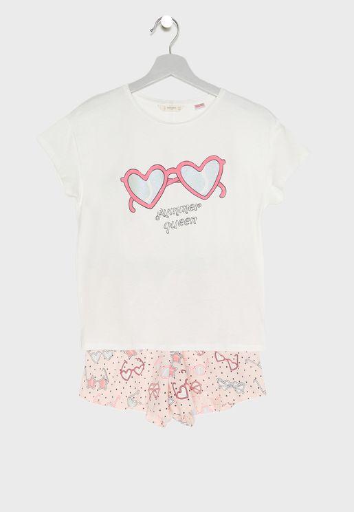 Kids Summer Queen Pyjama Set