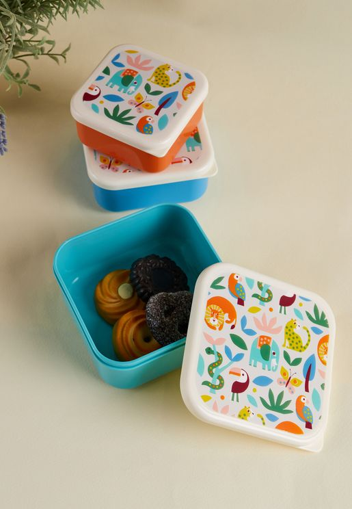 Wild Wonders Set of 3 Snack Boxes