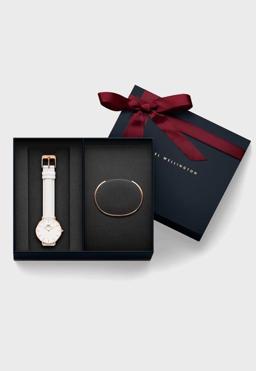 Bondi Analog Watch + Cuff Bracelet Gift Set
