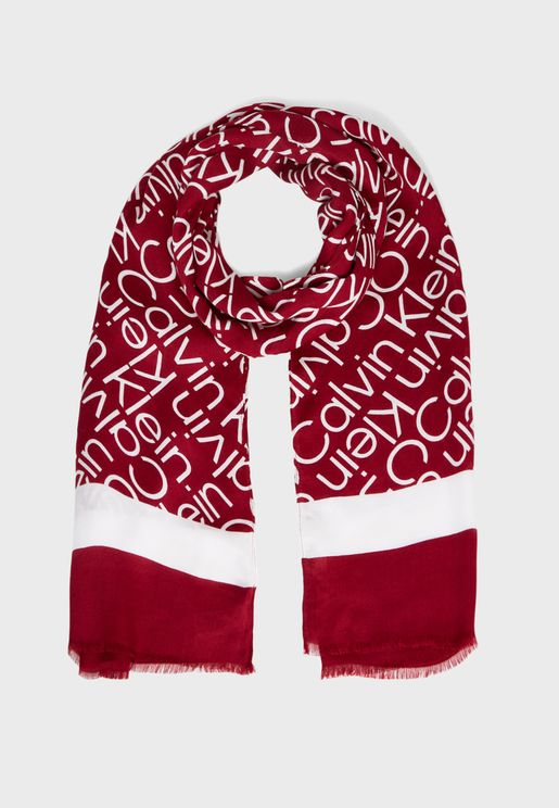 Printed Knitted Scarf