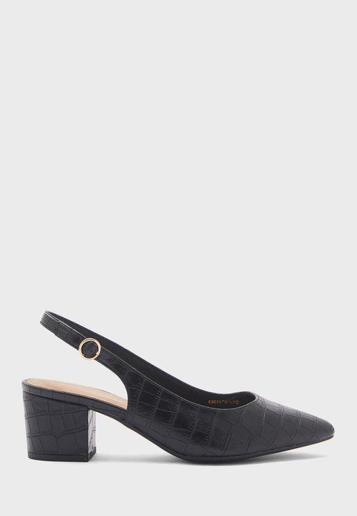Wide Fit  Low Heel Mules