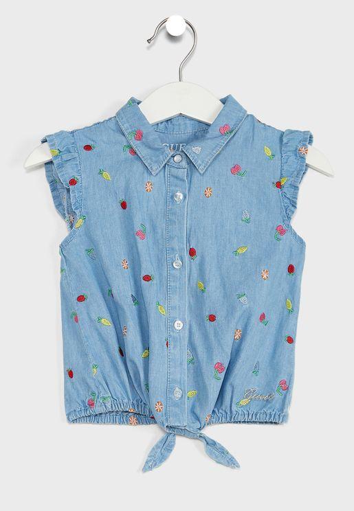 قميص باكمام كشكش