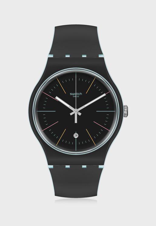 Black Layered Analog Watch