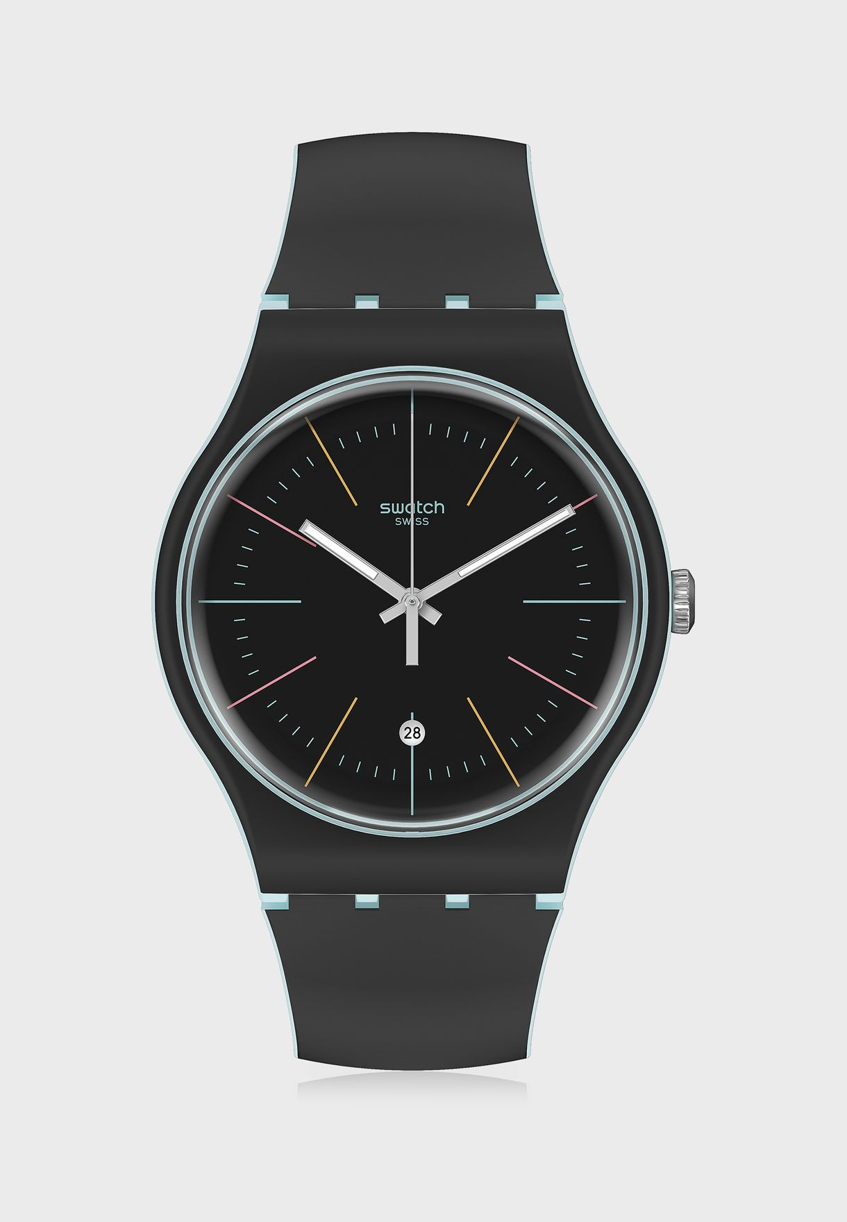 Black Layered Analog Watch