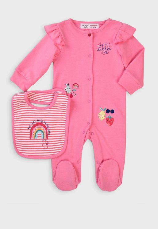 Infant Embroidered Bodysuit + Bid Gift Set