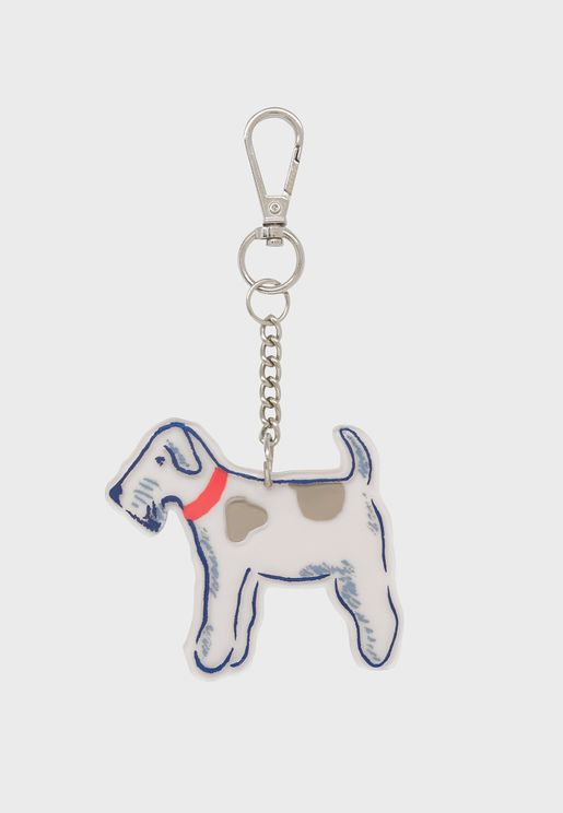 Dog Charm Keyring