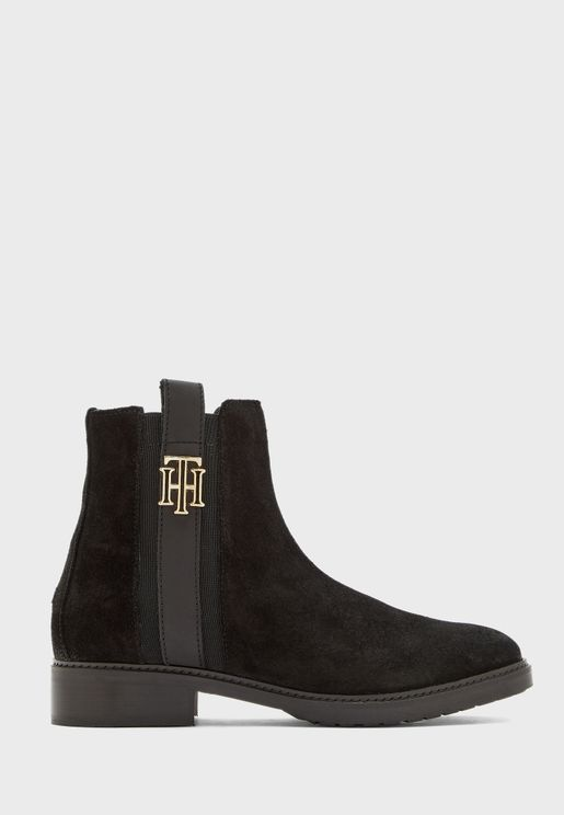Interlock Suede Ankle Boot