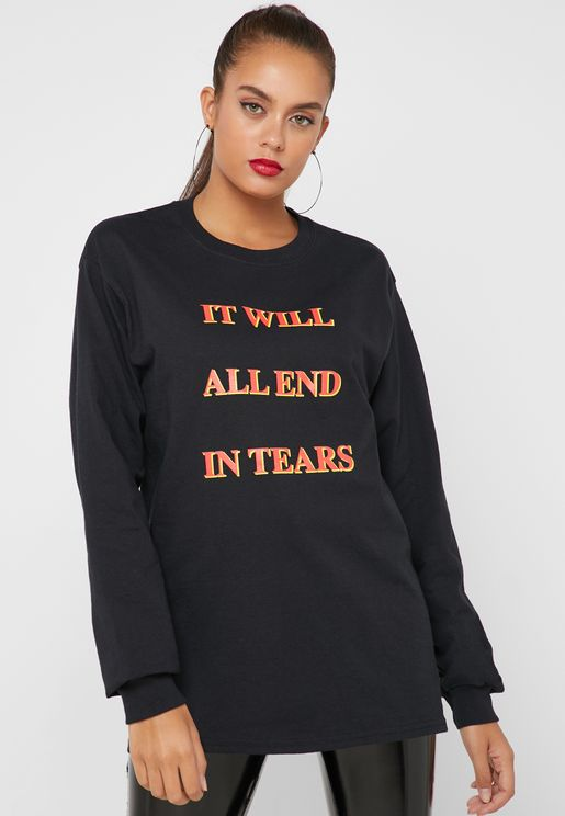 Slogan Long Sleeve T-Shirt